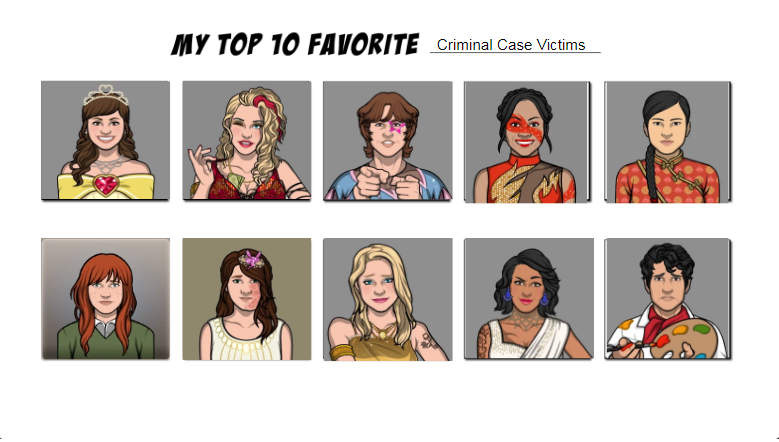 Top Ten Favorite Victims In Criminal Case By Alliepeachfan On Deviantart