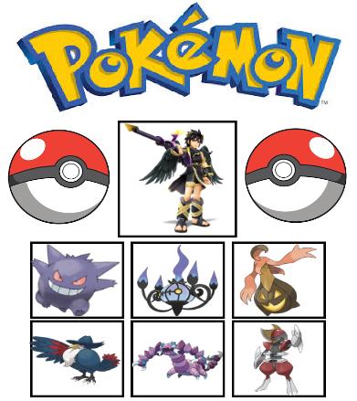 Dark Pits Kid Icarus Pokemon Team By AlliePeachfan