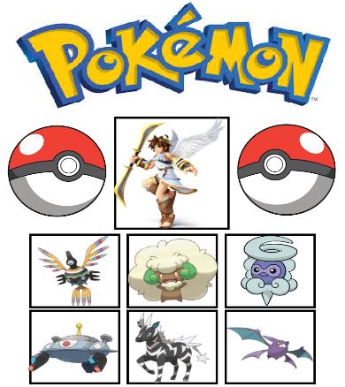 Pits Kid Icarus Pokemon Team By AlliePeachfan