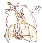Jasper Birthday Card by Swanbrother
