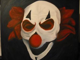 evil clown part 2-paint by porcupinehead