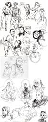 sketch dumps part one by the-harpy