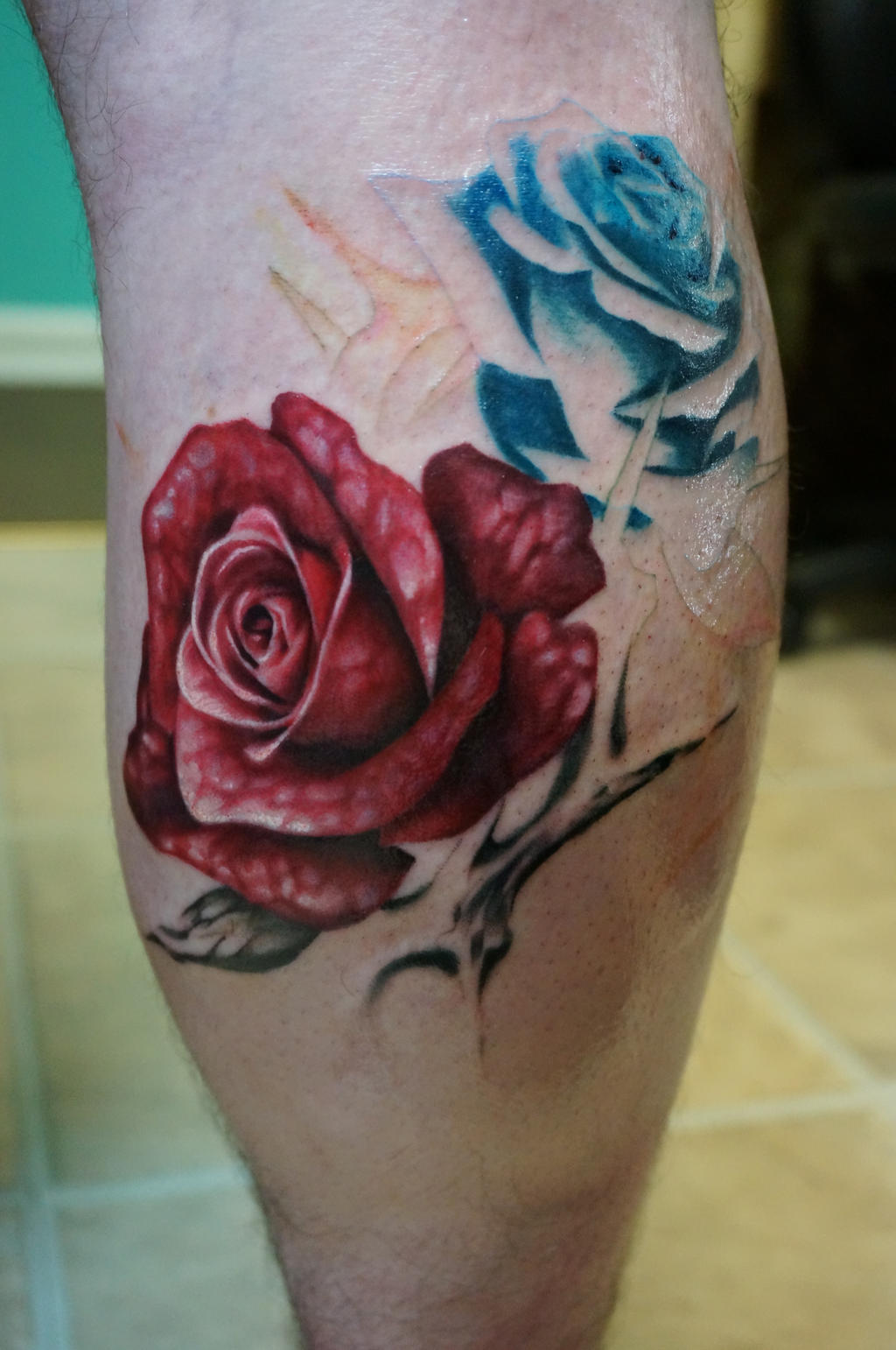 Thorny rose tattoo 1 by wisscout on deviantart for Rose with thorns tattoo