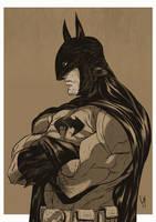 Batman chillin' by GeeHALE
