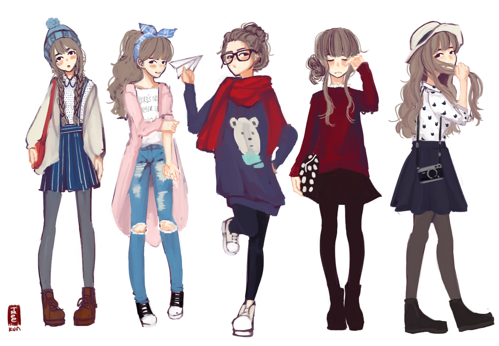 Han's Outfits by Tree-kun