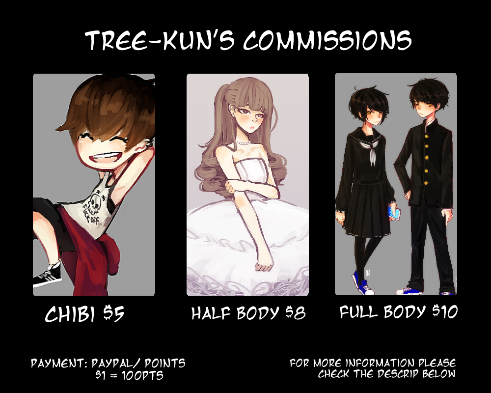 Commission Info by Tree-kun