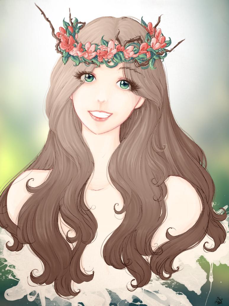 Flower Chain 2 by Felirile