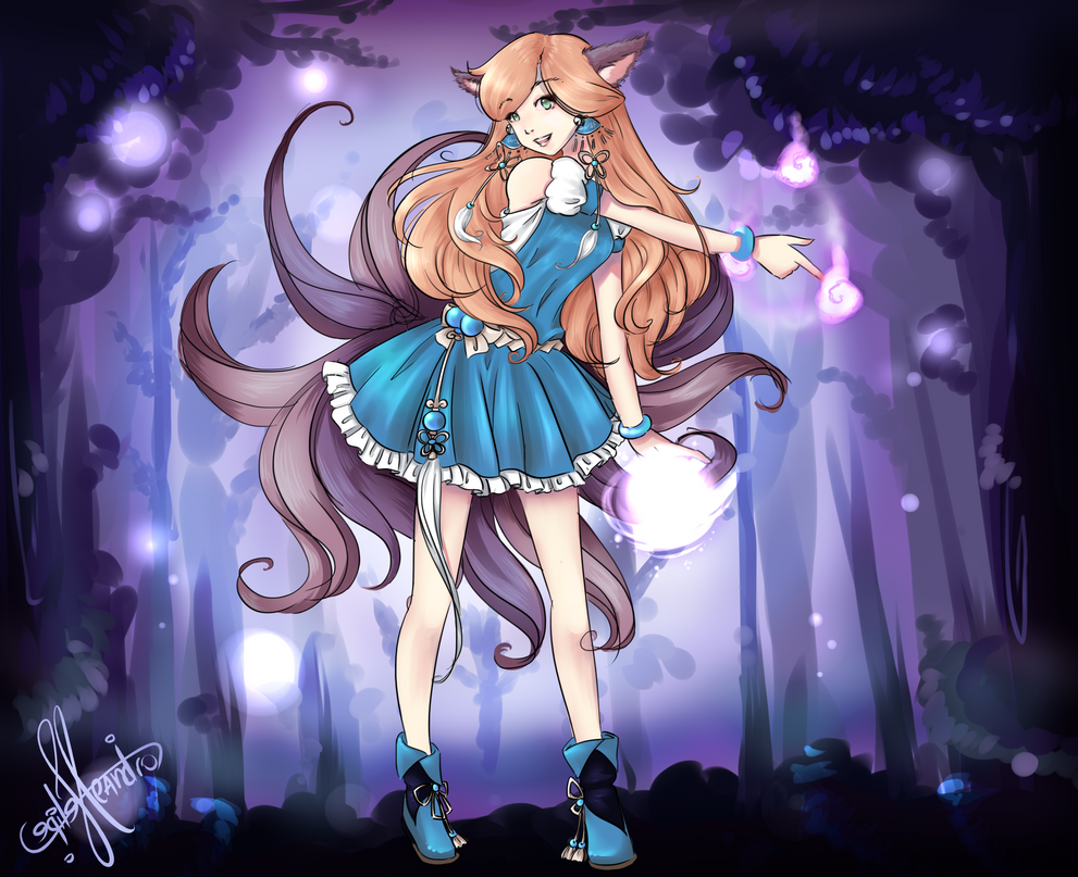 Ahri in Wonderland by Felirile