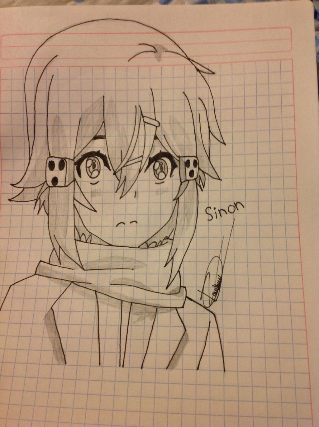 Sinon SAO (Gun Gale Online) Draw by persiantt on DeviantArt