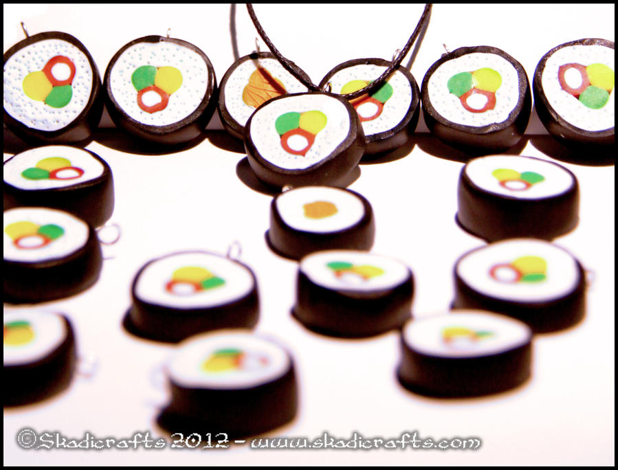 Abstract Sushi Pendants by Skadi-r