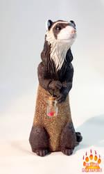 Ferret Wizardry familiar by Skadi-r