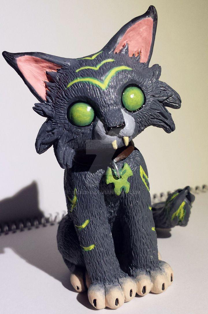 Mischief the fel kitten by Skadi-r
