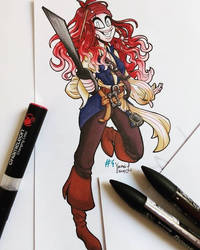 [OC] Day 4: Cosplaying as your favorite character by VermeilTheLostOne