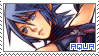 KH Birth by Sleep ~ Aqua ~ Stamp 1 by KiraiMirai