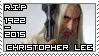 R.I.P Christopher Lee (1922 - 2015) by KiraiMirai