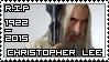 R.I.P Christopher Lee (1922 - 2015) by KiraiMirai