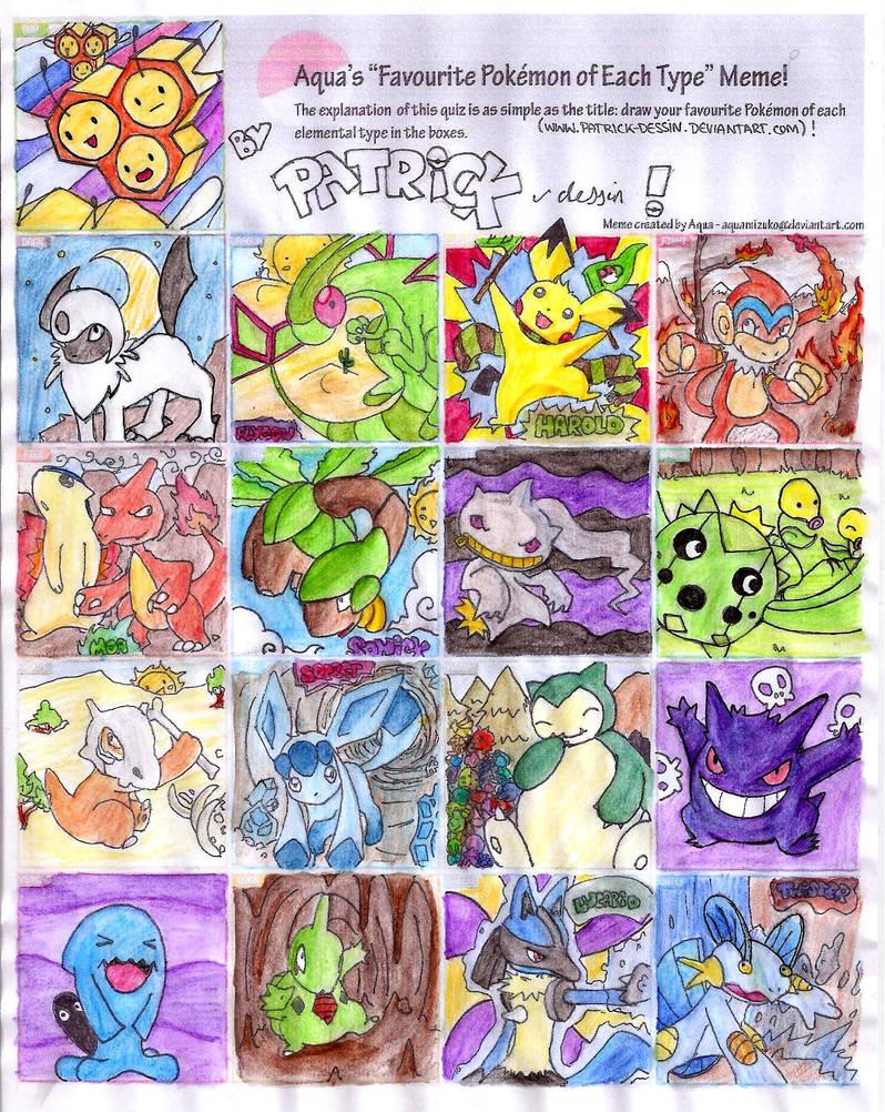 Favorite Pokemon Meme By Patrick Dessin On Deviantart