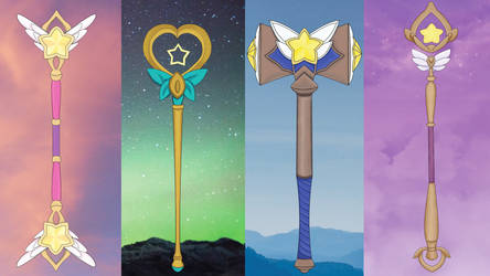Star Guardians Weapons by ImMichaelB