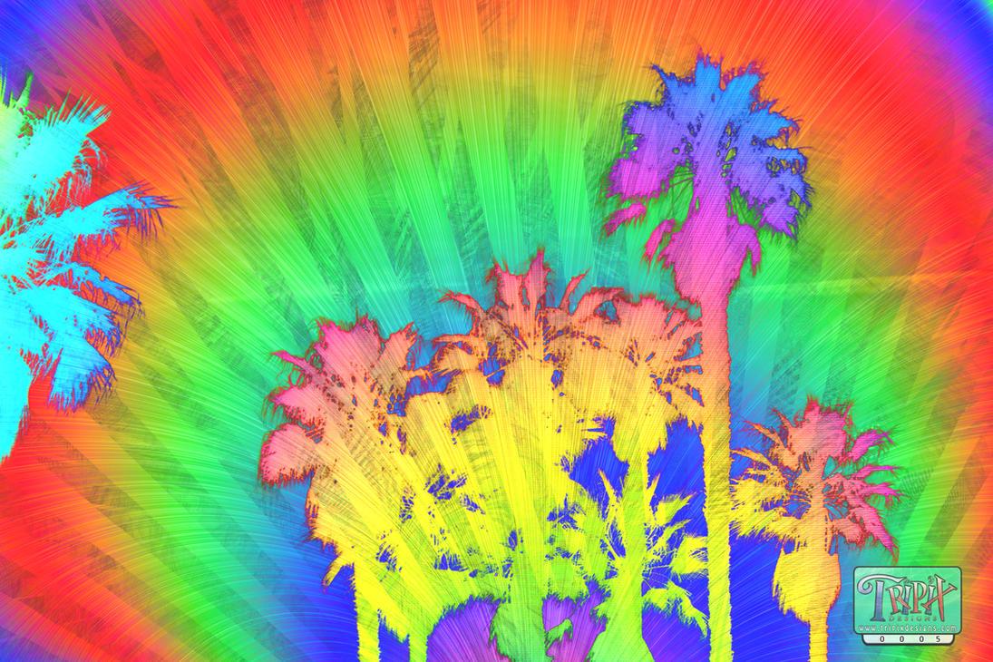 Kaleidoscopic Palm Bomen by tripixdesigns