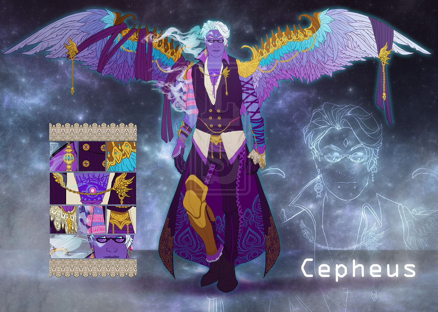 Cepheus Design Sheet [Elaborate Adoptable Example] by LuckySquid