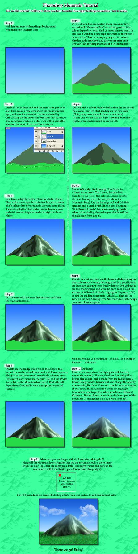 Mountain Tutorial by Warran