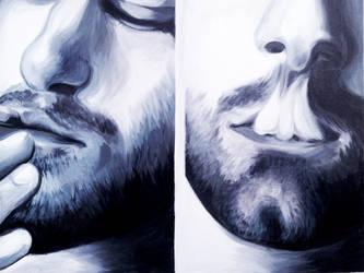 Dual self portrait by ryan-gfx