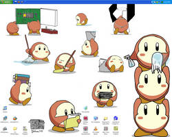 Waddle Dee Desktop - Fin by Lonely-Invisible