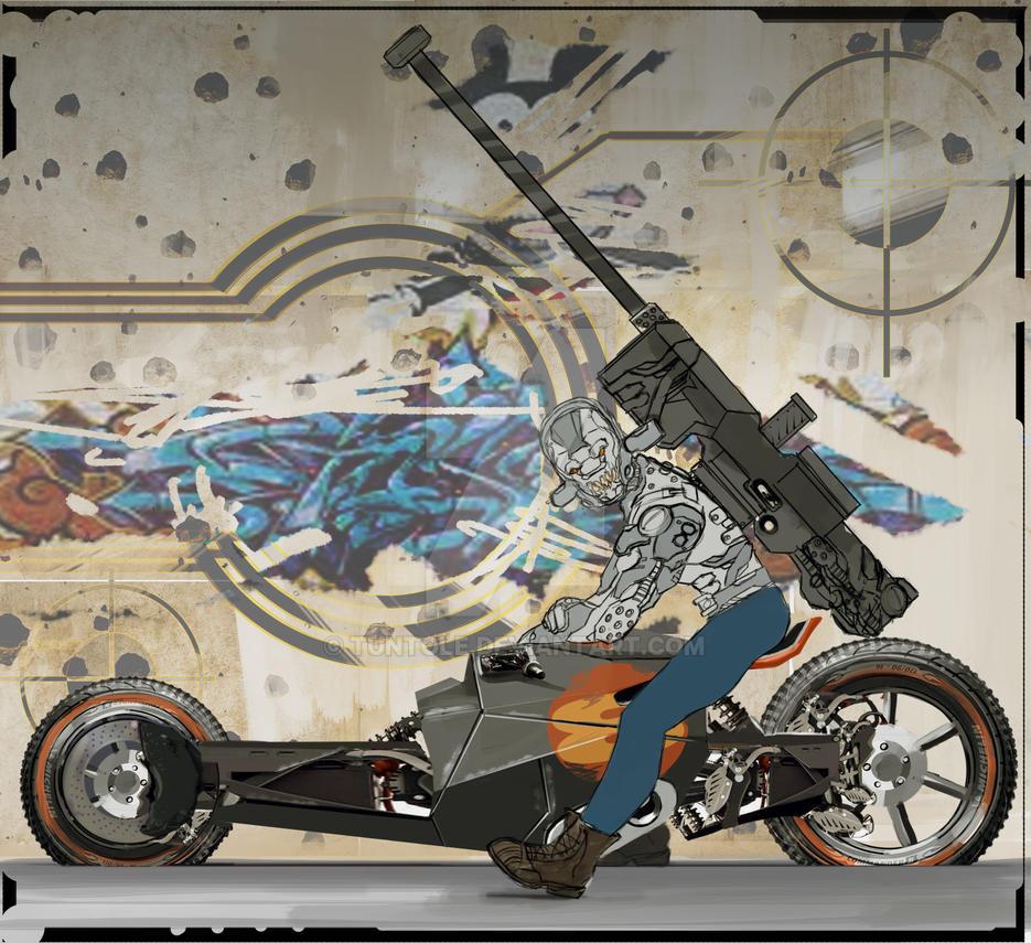 Apocalypse Biker by tuntole