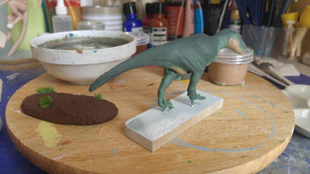 Painting some layers on Rex