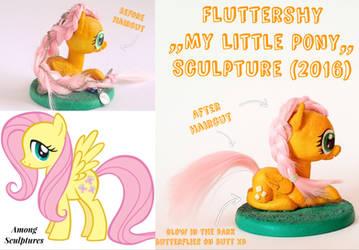Fluttershy my little pony sculpture