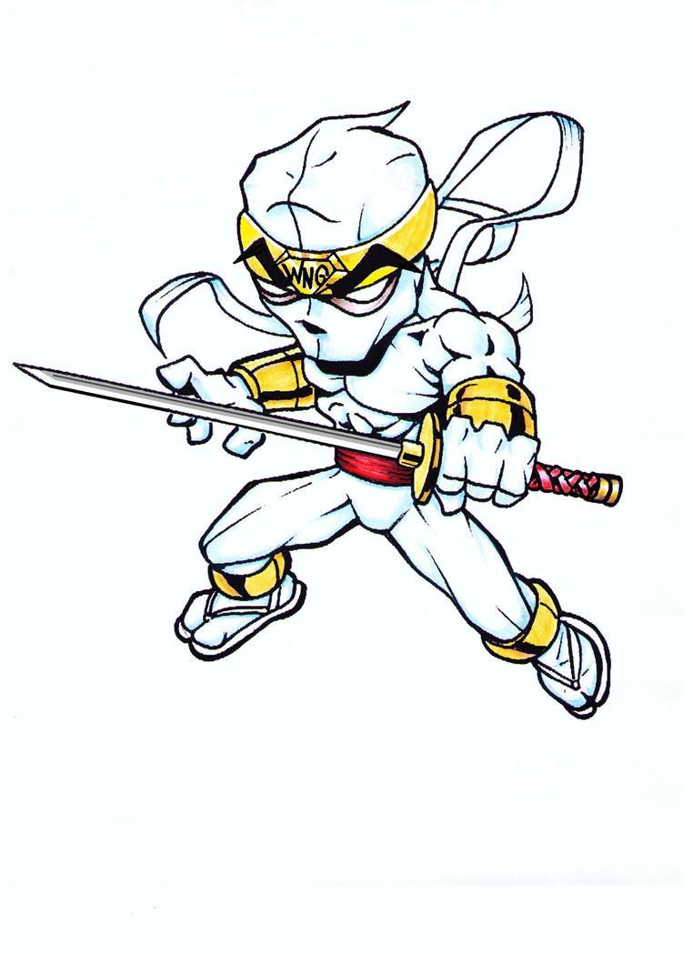 White Ninja Guy quick color by jmqrz on DeviantArt