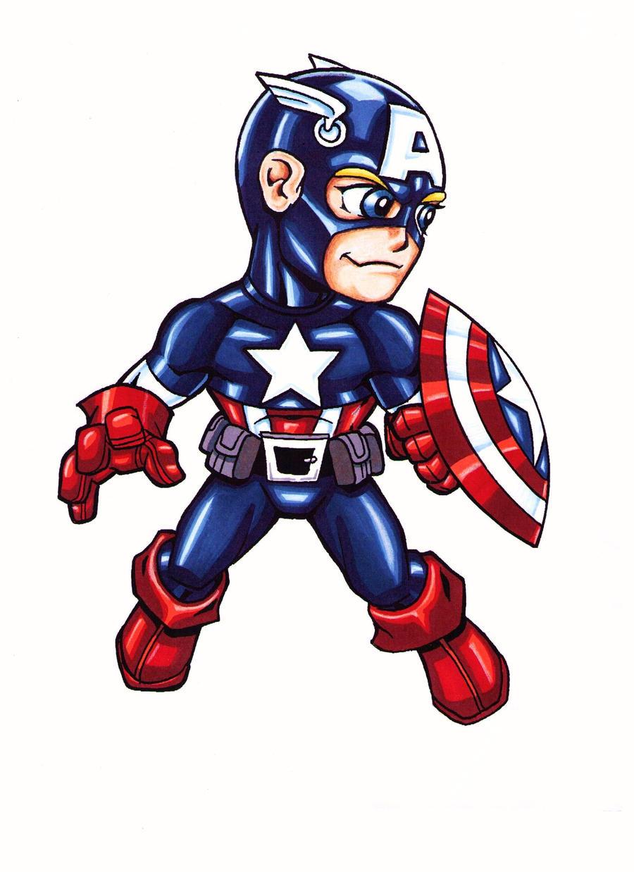 lil' captain america colored by jmqrz on DeviantArt
