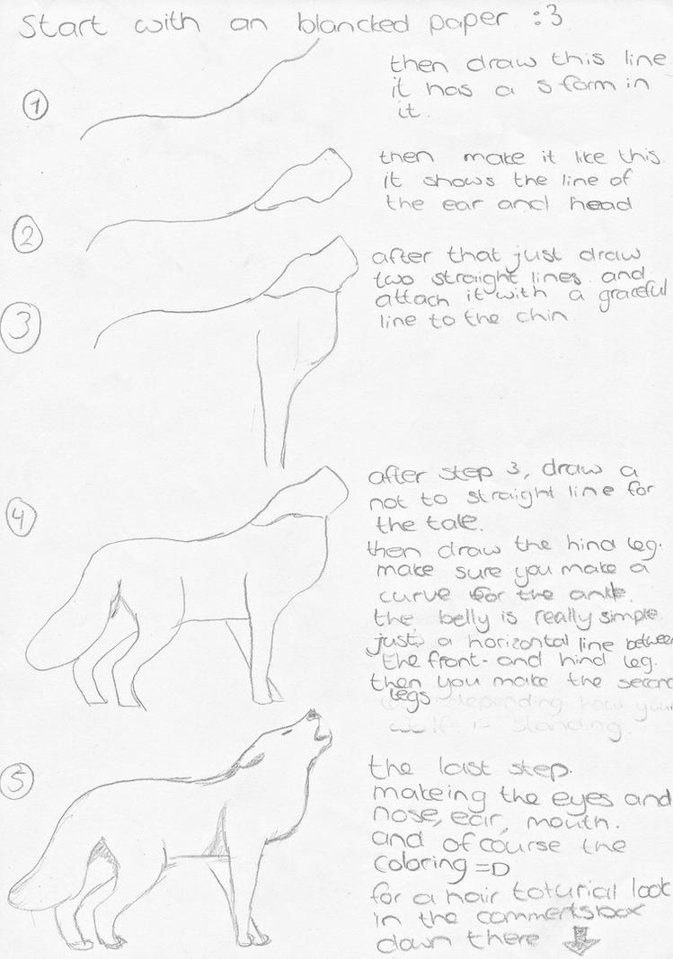 How To Draw A Howling Wolf By Lollykiller