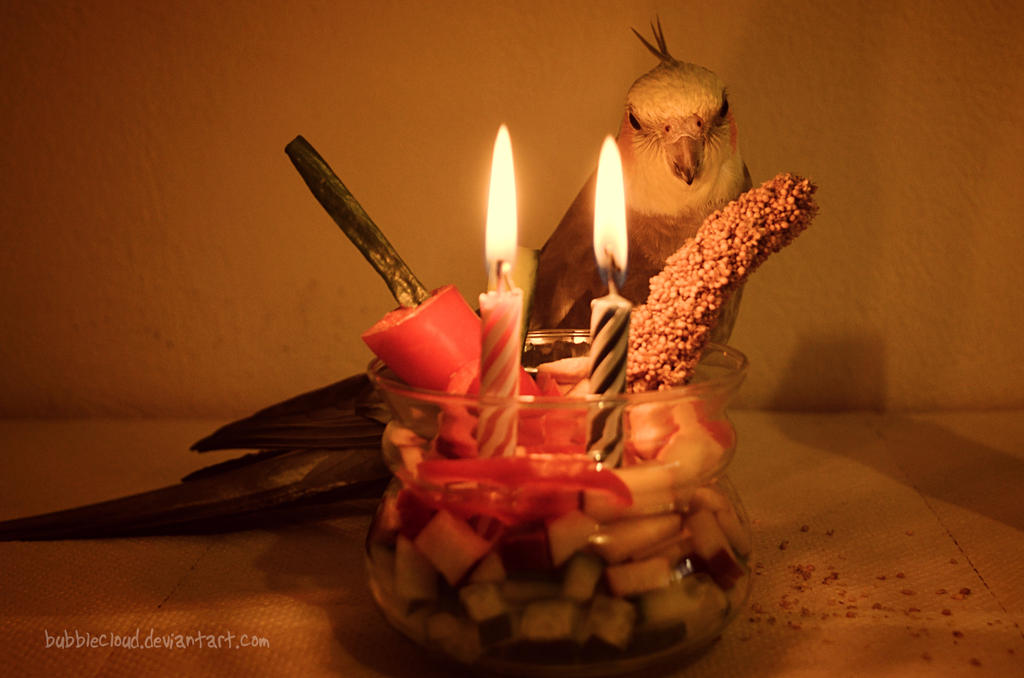 Happy 2nd hatchday Loofy!!! by BubbleCloud