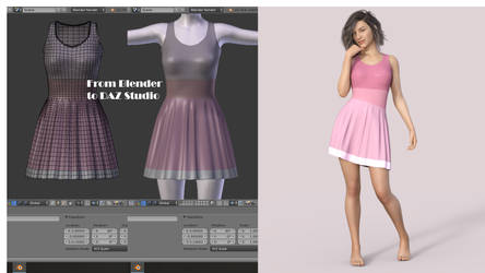 My First dForce Dress for GF8 - WIP by BubbleCloud