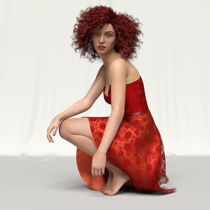 Carla in Red