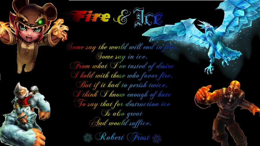 Fire and ice wallpaper by b1337 on deviantart for Fire and ice tattoo shop