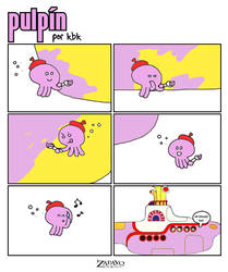 Pulpin and the pink submarine by kabek