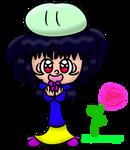 Mokoko with a Dango on her head. by Giss-chan