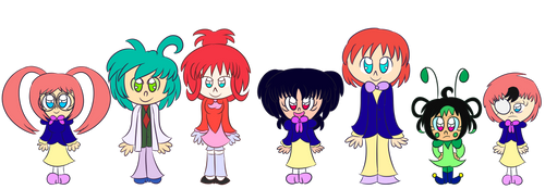 Carrot Fluffs Revamp lineup by Giss-chan