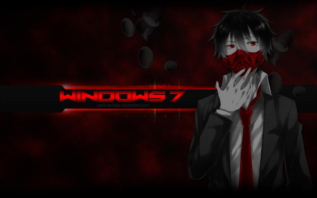 Wallpaper Anime Selective Color Red By Dshepe By Dshepe On