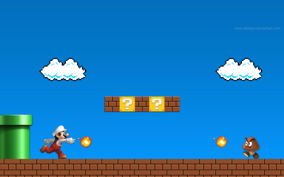 wallpaper super mario bros hd 1920x1200 by dshepe on