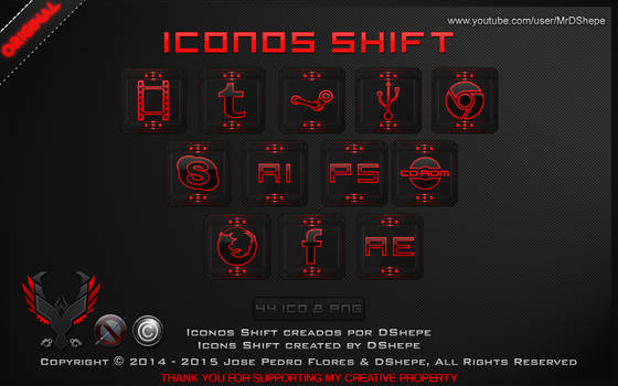 Icons Shift for Dock 2014 by DShepe