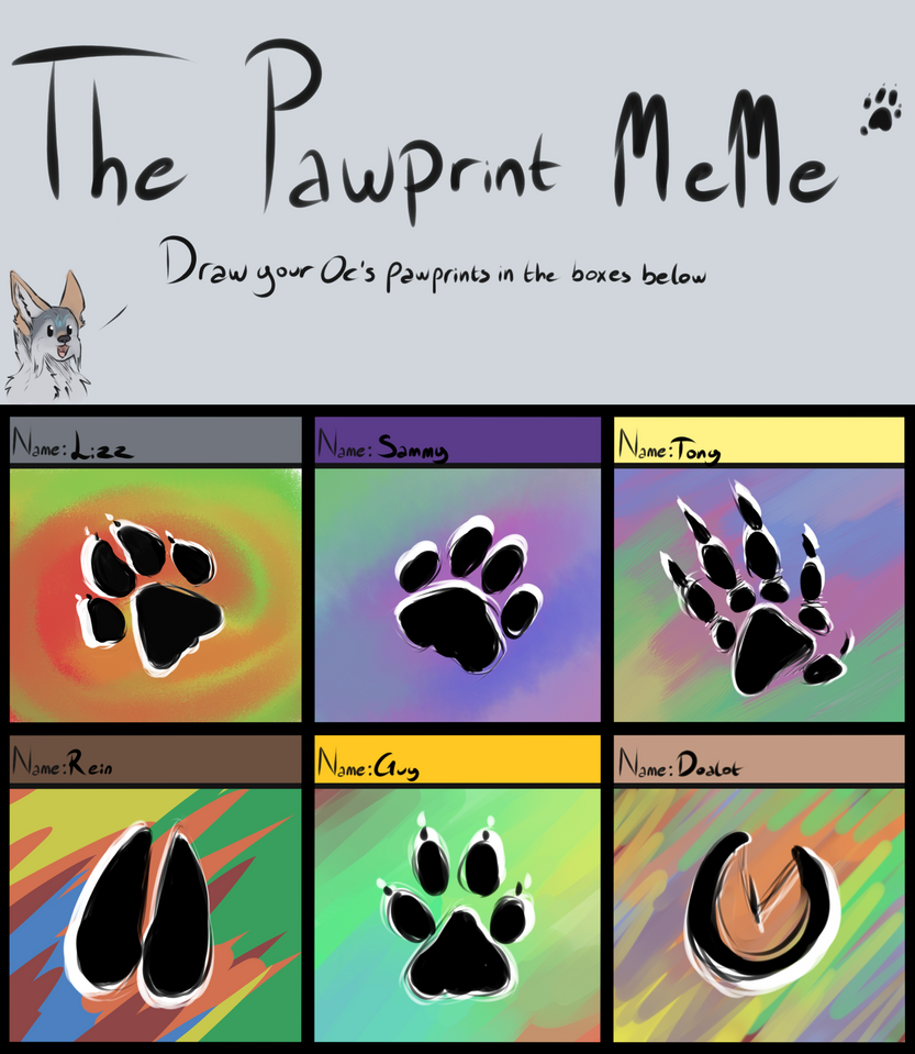 The Pawprint meme Did it by OriginalDragonLord