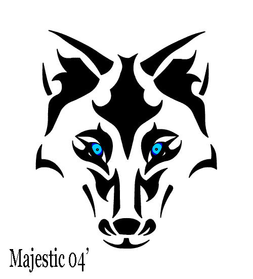 Tribal wolf 2 by majestic2966 on deviantart for Wolf eyes tattoo designs
