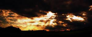 Dawn over field