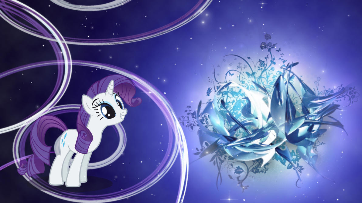 Rarity - Magic Flower Wallpaper by Unfiltered-N