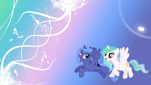 Young Celestia and Luna - WP