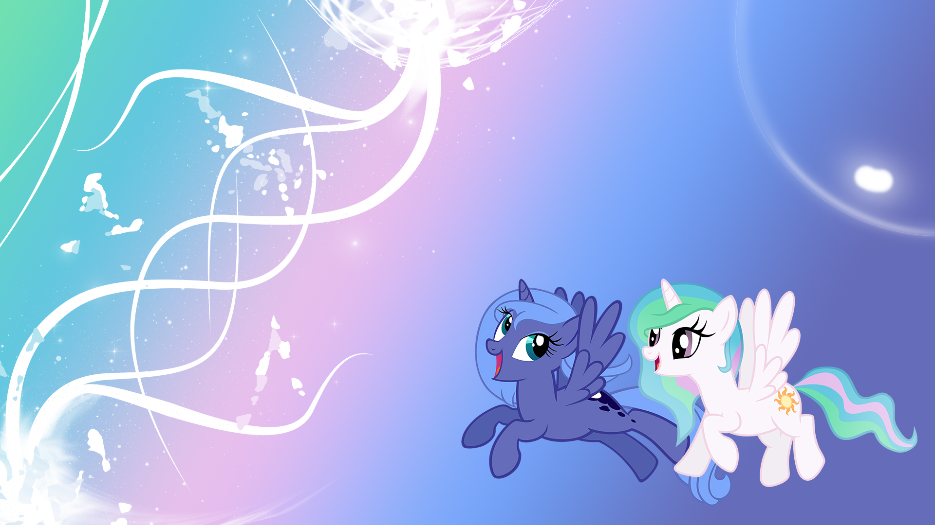 Young Celestia and Luna - WP by Unfiltered-N