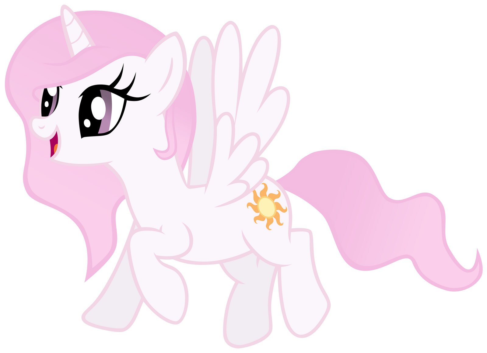 Young Celestia - Pink Mane by Unfiltered-N